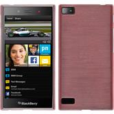 Silikonhülle für BlackBerry Z3 brushed rosa