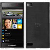Silikonhülle für BlackBerry Z3 brushed silber