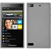 Silikonhülle für BlackBerry Z3 S-Style weiß