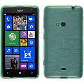 Silikon Hülle Lumia 625 brushed grün