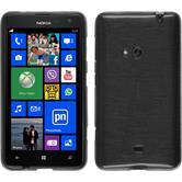 Silikonhülle für Nokia Lumia 625 brushed silber