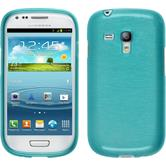 Silicone Case for Samsung Galaxy S3 Mini brushed blue