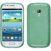 Silicone Case for Samsung Galaxy S3 Mini brushed green