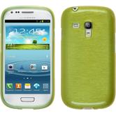 Silicone Case for Samsung Galaxy S3 Mini brushed pastel green