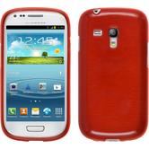Silicone Case for Samsung Galaxy S3 Mini brushed red