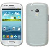 Silicone Case for Samsung Galaxy S3 Mini brushed white