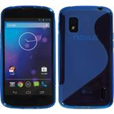 Silicone Case for Google Nexus 4 S-Style blue