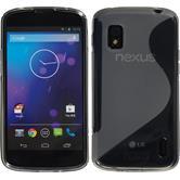 Silikon Hülle Nexus 4 S-Style grau