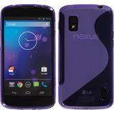 Silicone Case for Google Nexus 4 S-Style purple