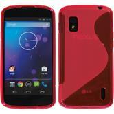 Silikon Hülle Nexus 4 S-Style pink