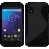 Silicone Case for Google Nexus 4 S-Style black