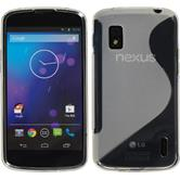 Silicone Case for Google Nexus 4 S-Style transparent