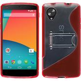 Silicone Case for Google Nexus 5  red