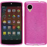 Silicone Case for Google Nexus 5 brushed hot pink