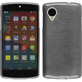 Silicone Case for Google Nexus 5 brushed silver