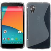 Silikon Hülle Nexus 5 S-Style grau