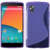 Silicone Case for Google Nexus 5 S-Style purple