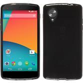 Silikon Hülle Nexus 5 transparent schwarz