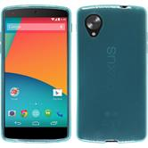 Silicone Case for Google Nexus 5 transparent turquoise