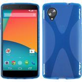 Silicone Case for Google Nexus 5 X-Style blue