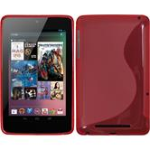 Silikon Hülle Nexus 7 S-Style rosa