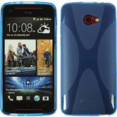 Silicone Case for HTC Butterfly S X-Style blue