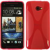 Silicone Case for HTC Butterfly S X-Style hot pink