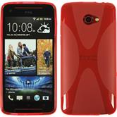Silicone Case for HTC Butterfly S X-Style red