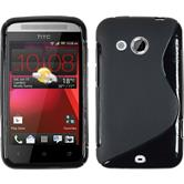Silicone Case for HTC Desire 200 S-Style black