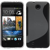 Silicone Case for HTC Desire 300 S-Style gray