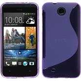 Silicone Case for HTC Desire 300 S-Style purple