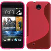 Silicone Case for HTC Desire 300 S-Style hot pink