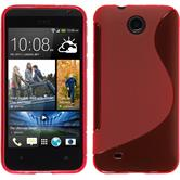 Silicone Case for HTC Desire 300 S-Style red