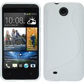 Silicone Case for HTC Desire 300 S-Style white