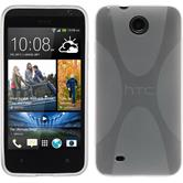 Silicone Case for HTC Desire 300 X-Style transparent