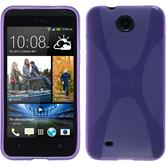 Silicone Case for HTC Desire 300 X-Style purple