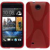 Silicone Case for HTC Desire 300 X-Style red