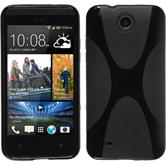 Silicone Case for HTC Desire 300 X-Style black