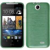 Silicone Case for HTC Desire 310 brushed green
