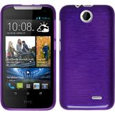 Silicone Case for HTC Desire 310 brushed purple