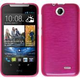 Silikon Hülle Desire 310 brushed pink + 2 Schutzfolien