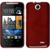 Silicone Case for HTC Desire 310 brushed red