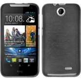 Silicone Case for HTC Desire 310 brushed silver