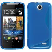 Silikon Hülle Desire 310 S-Style blau