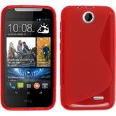 Silicone Case for HTC Desire 310 S-Style red