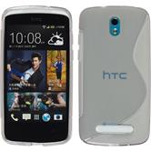 Silicone Case for HTC Desire 500 S-Style gray