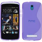 Silicone Case for HTC Desire 500 S-Style purple