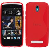 Silicone Case for HTC Desire 500 S-Style red