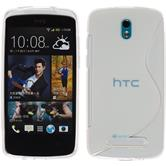 Silicone Case for HTC Desire 500 S-Style transparent