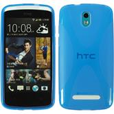Silicone Case for HTC Desire 500 X-Style blue